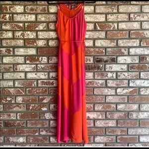 Love Stitch orange pink maxi dress